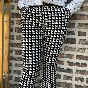 Zara black and white print pants